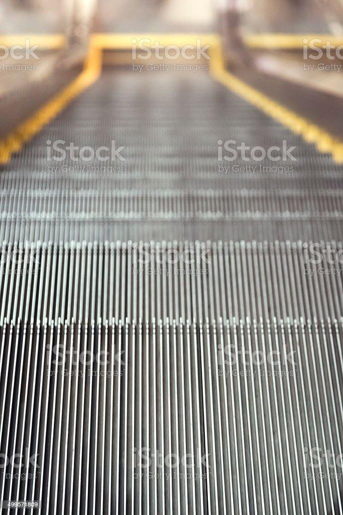 Escalator Close up stock photo