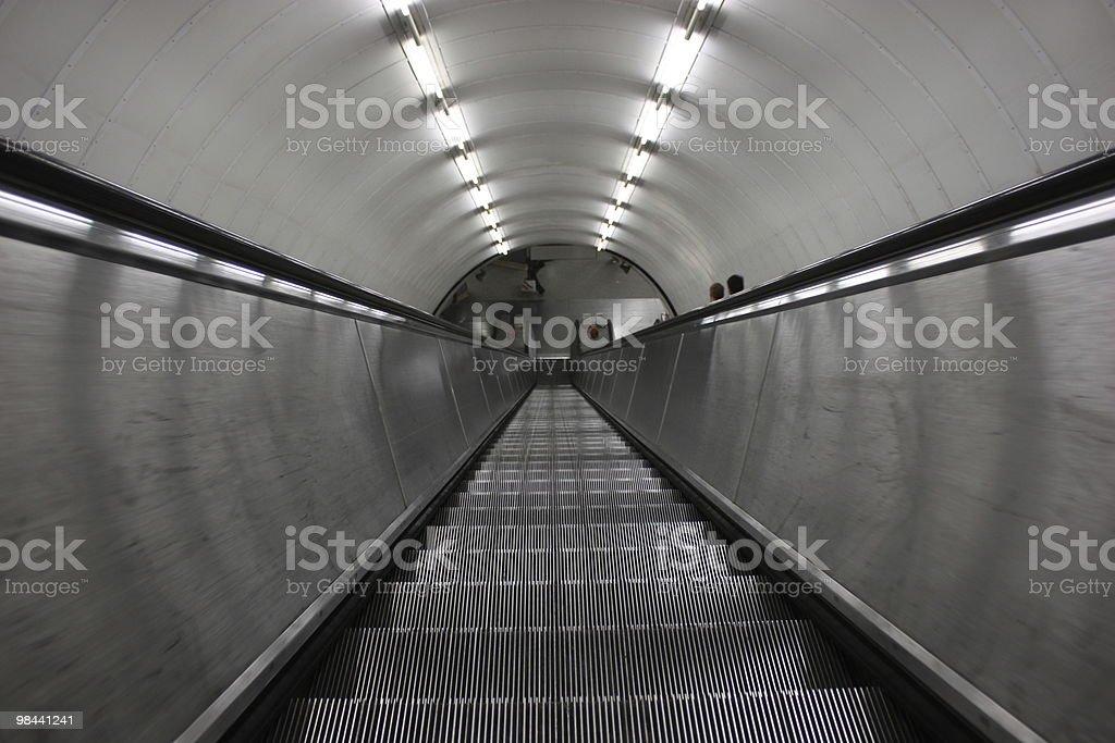 Escalator Down To The Metro royalty-free stock photo