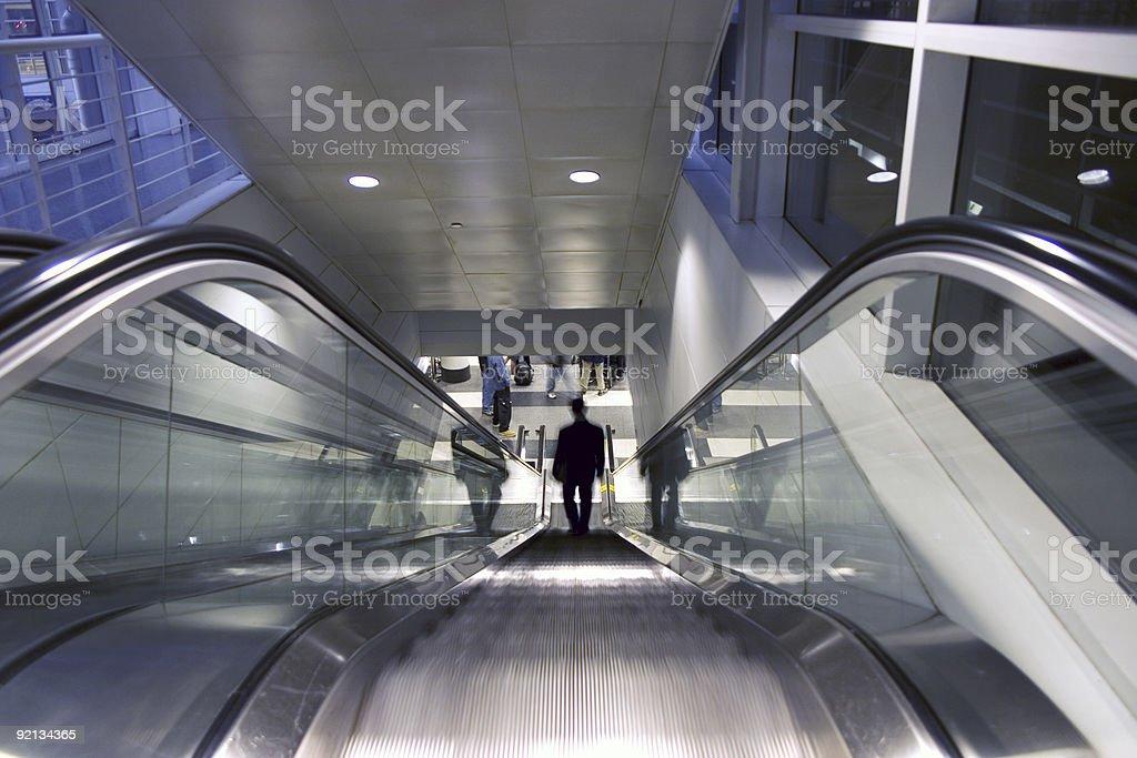 Escalator, elevator, stairs royalty-free stock photo