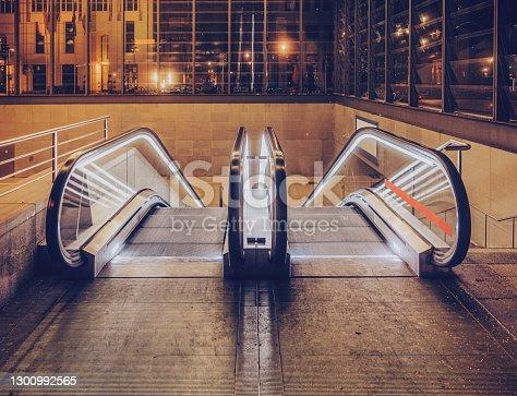 istock Escalator in a station 1300992565