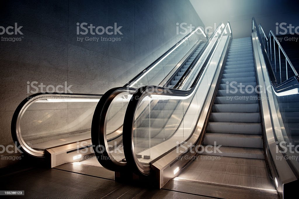 Escalator in Building royalty-free stock photo