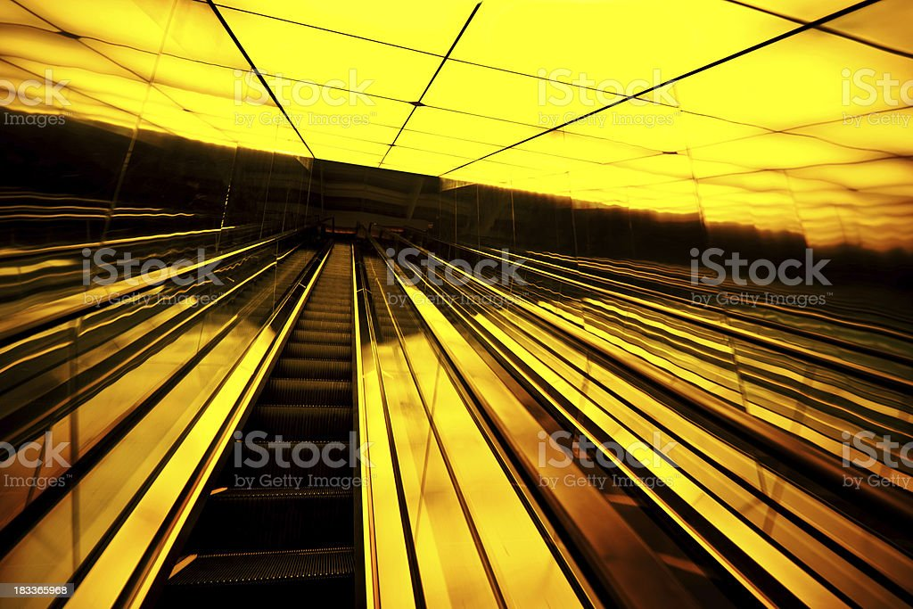 escalator in modern architecture royalty-free stock photo