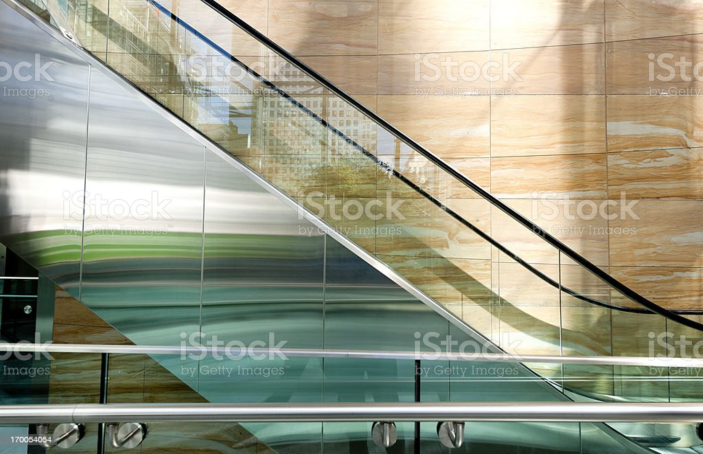 escalator in office building royalty-free stock photo