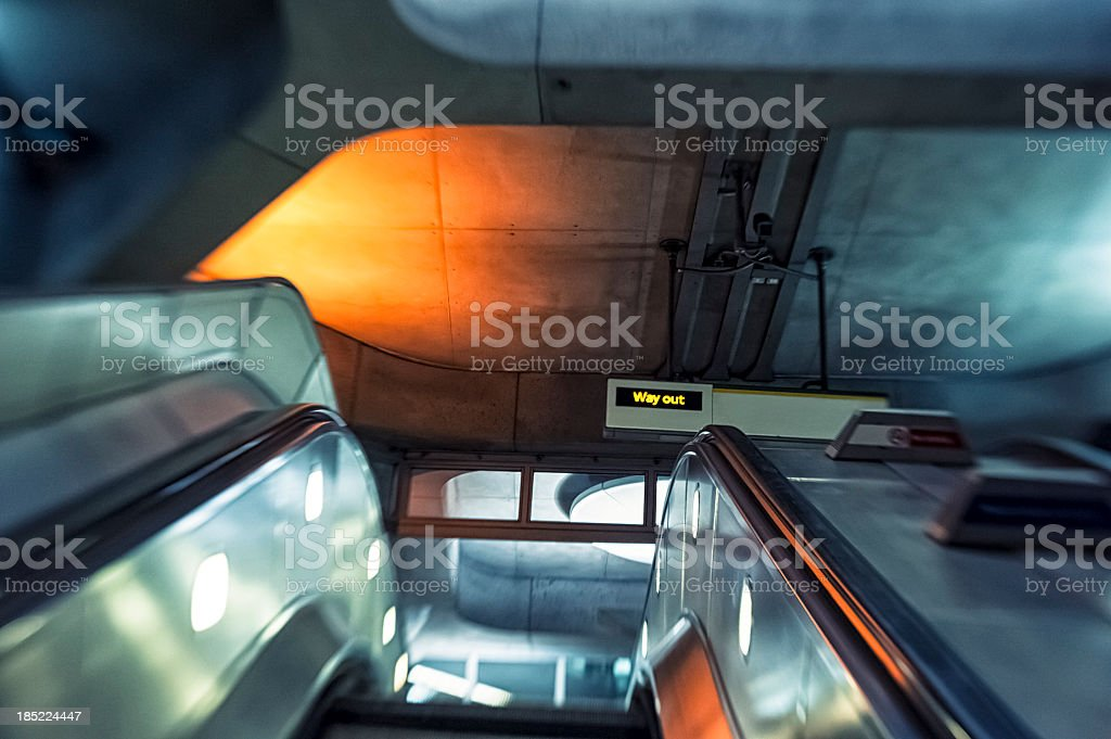 Escalator In Subway Station, London royalty-free stock photo
