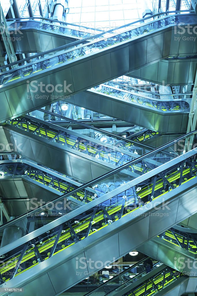 Escalator Inside Office Building royalty-free stock photo