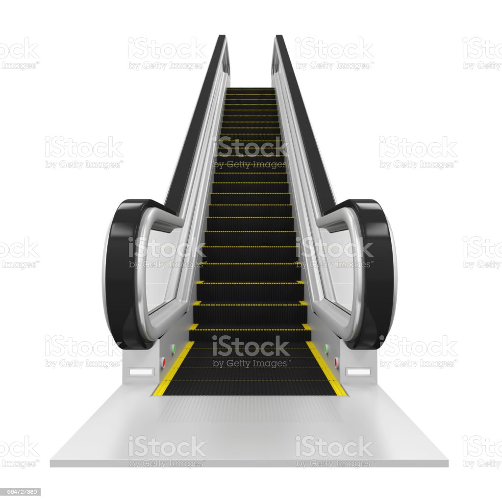 Escalator Isolated stock photo