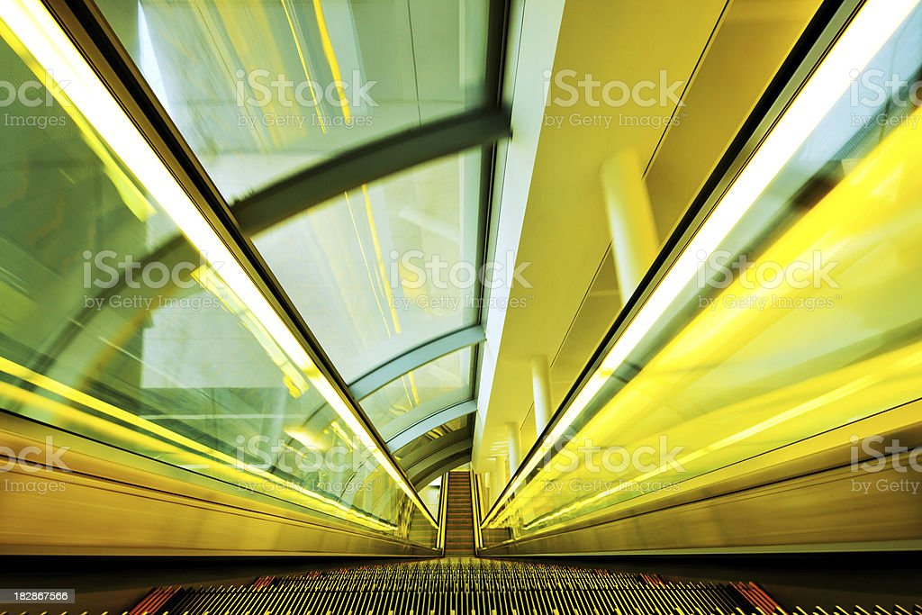 Escalator Moving Down royalty-free stock photo