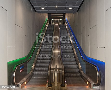 1166703050 istock photo Escalator of the s Bahn station Taunusanlage in Frankfurt, germany 924077036