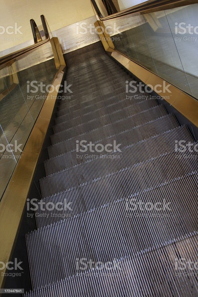Escalator stairs from top royalty-free stock photo