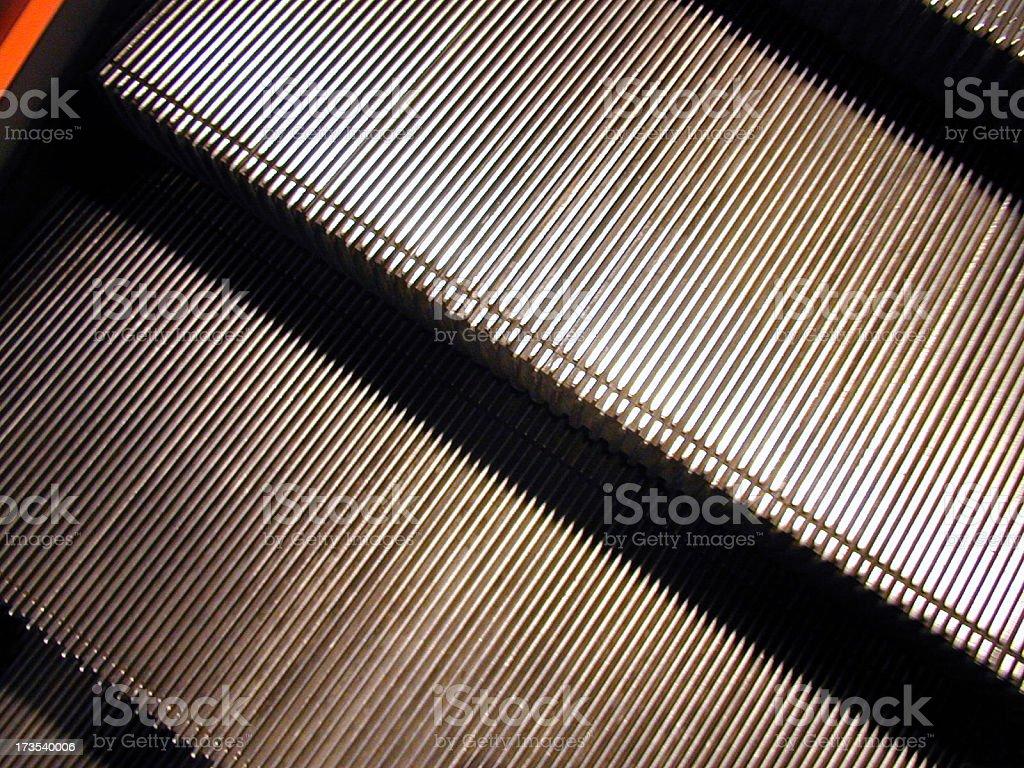 Escalator Steps royalty-free stock photo