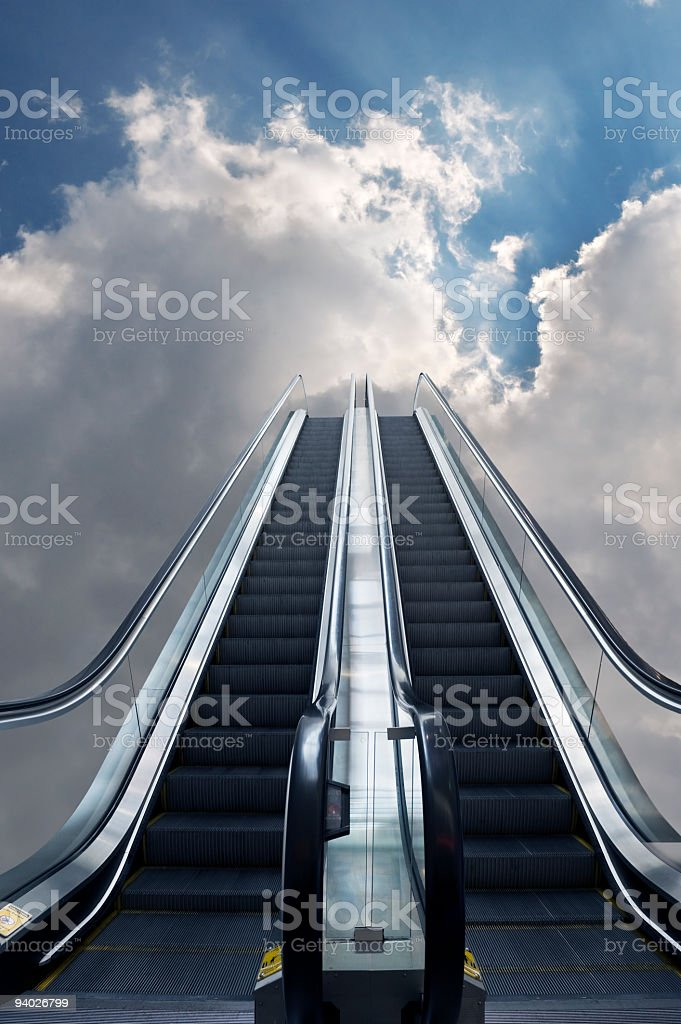 Escalator to Heaven royalty-free stock photo