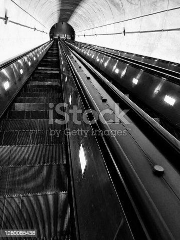 Washington Metro escalators at Wheaton Station in Maryland
