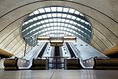 istock Escalators, Canary Wharf, London, UK 850812322