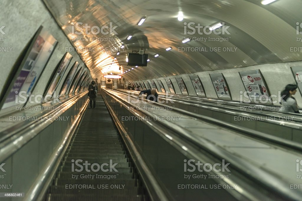 Escalators from underground royalty-free stock photo
