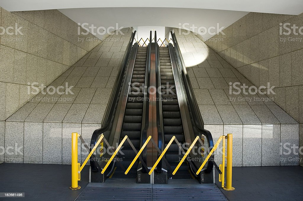 Escalators out of order stock photo