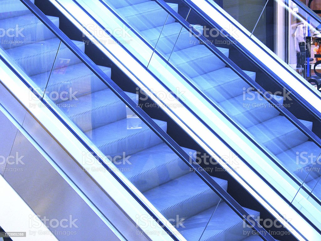 Escalators royalty-free stock photo