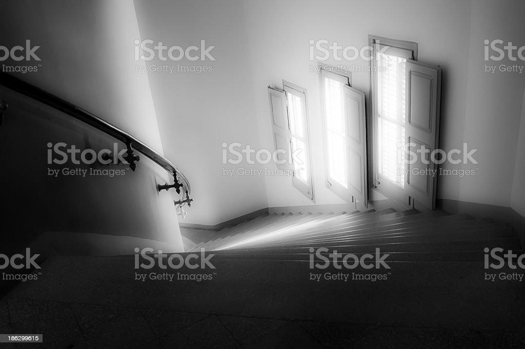 Escalera curva stock photo