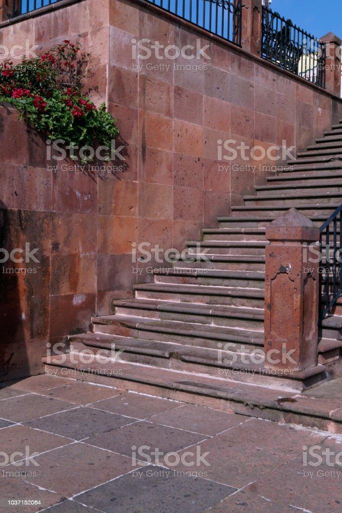 Escaleras de Cantera en Tlalpujahua - foto de stock