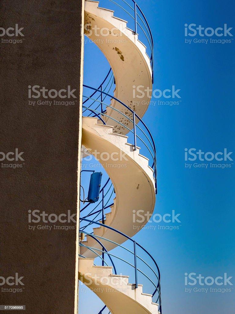 Escalier Extérieur De Colimaçon Stockfoto und mehr Bilder ...