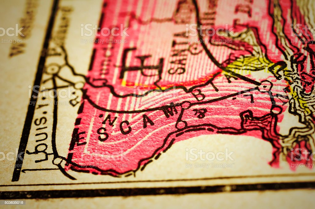 Florida County Maps.Escambia Florida County Maps Stock Photo More Pictures Of