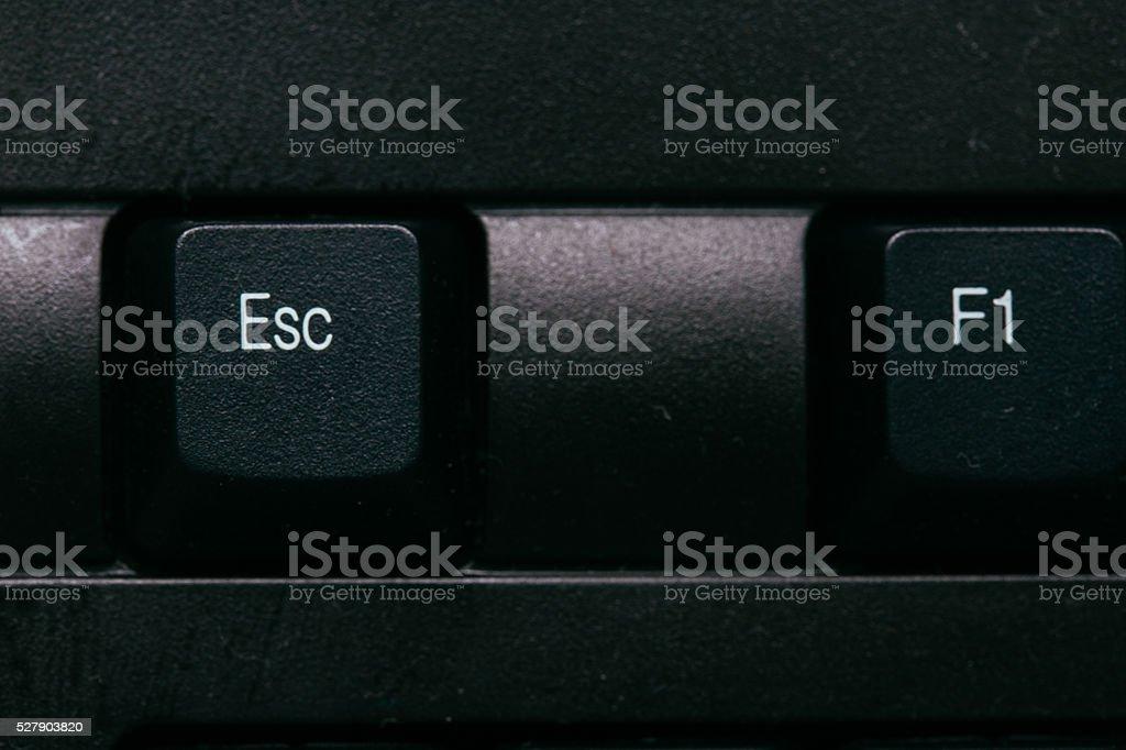 Escape computer key stock photo