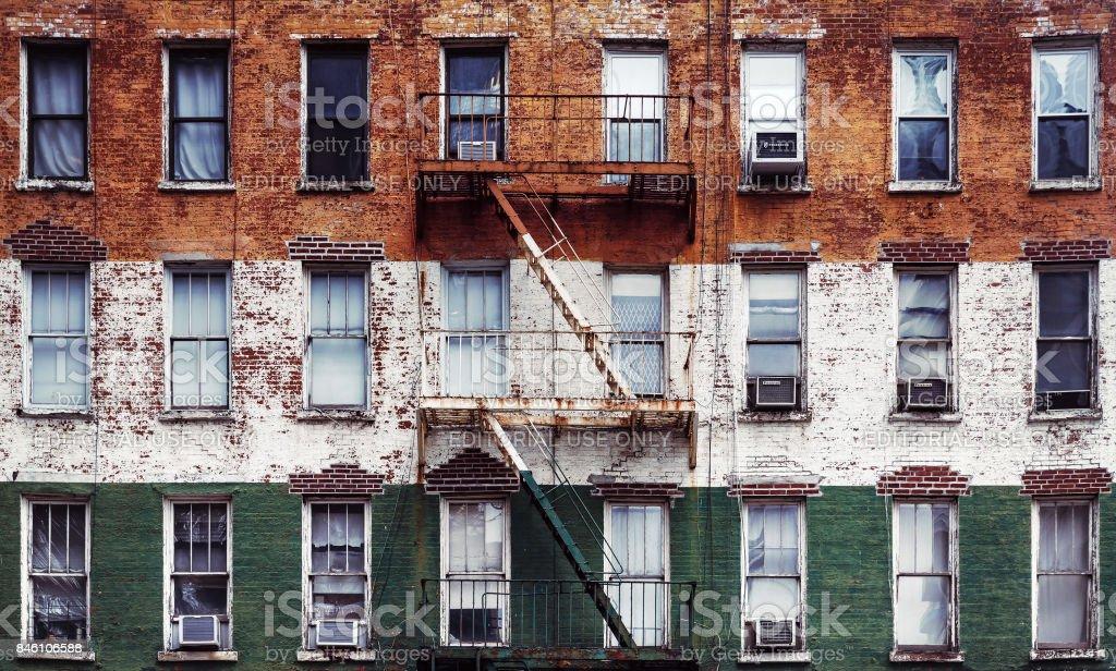 Escape fire ladders stock photo