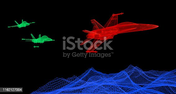 istock Escape from Air Missile 1162127004