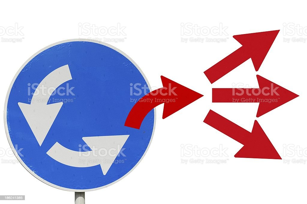 Escape from loop. Be leader royalty-free stock photo