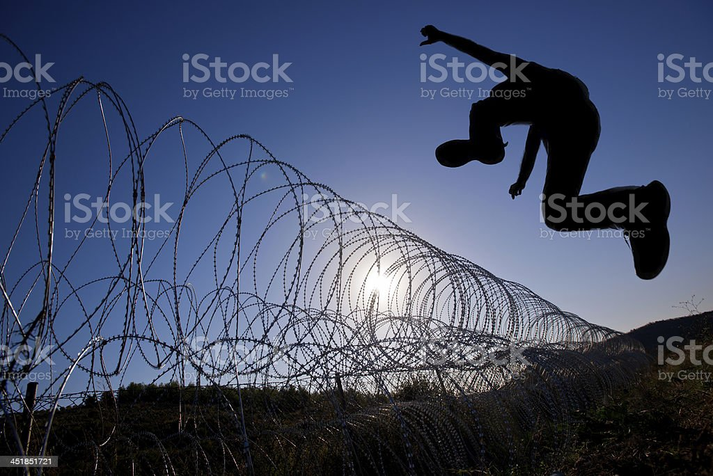 Escape stock photo
