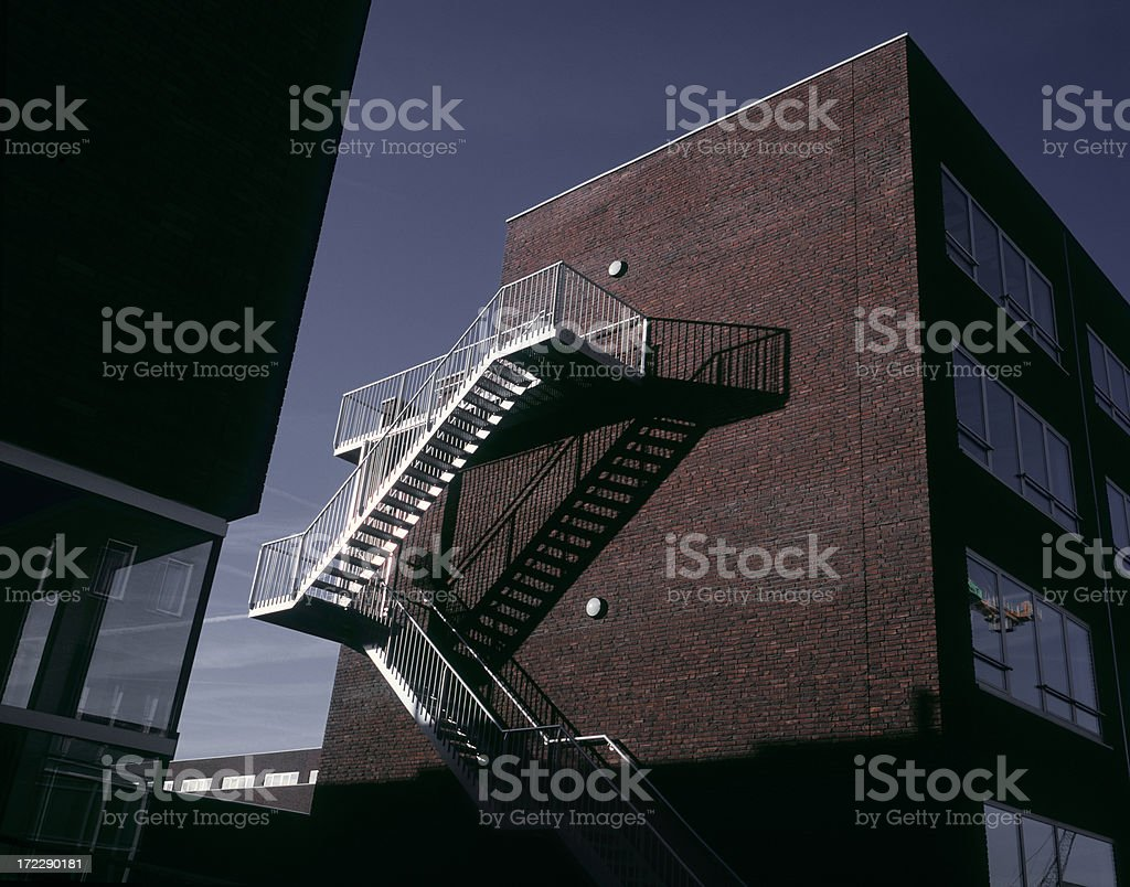 Escape Stairs stock photo