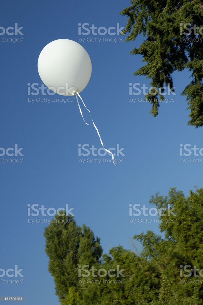 Escaped balloon royalty-free stock photo