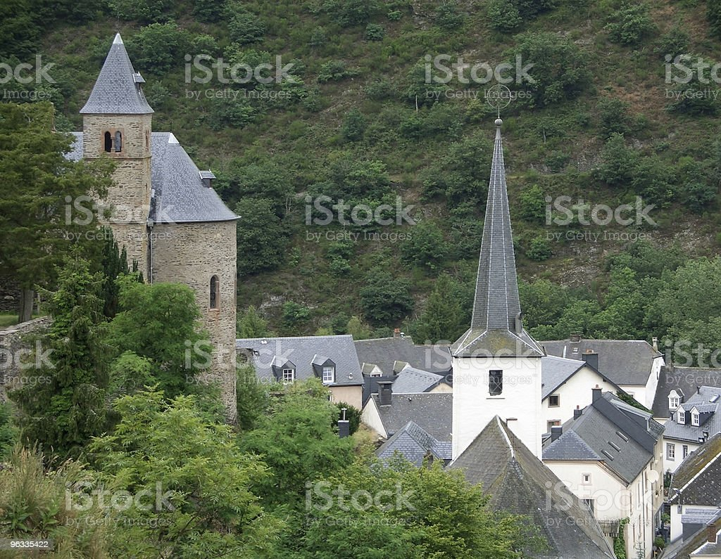 Esch-sur-Sûre at summer time royalty-free stock photo