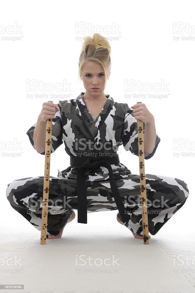 Escrima girl royalty-free stock photo