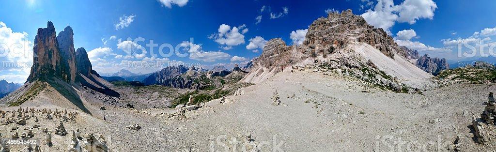 Escursione alle tre cime stock photo