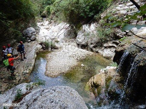 Escursionisti In Gola Stock Photo & More Pictures of Adventure