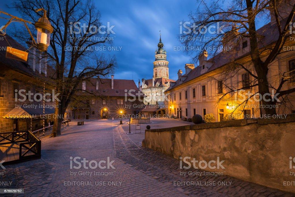 Český Krumlov Castle in Czech Republic stock photo