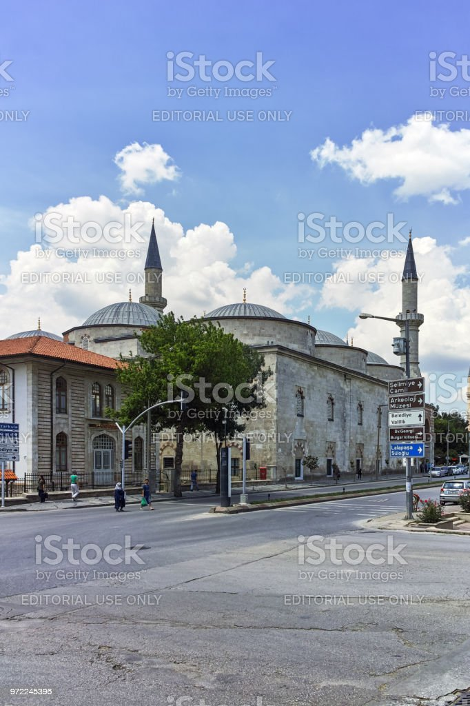 Eski Camii Mosque in city of Edirne,  East Thrace, Turkey stock photo