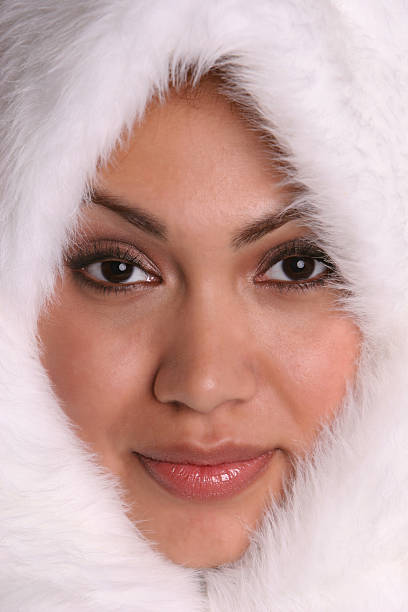Eskimo Girl 1 stock photo