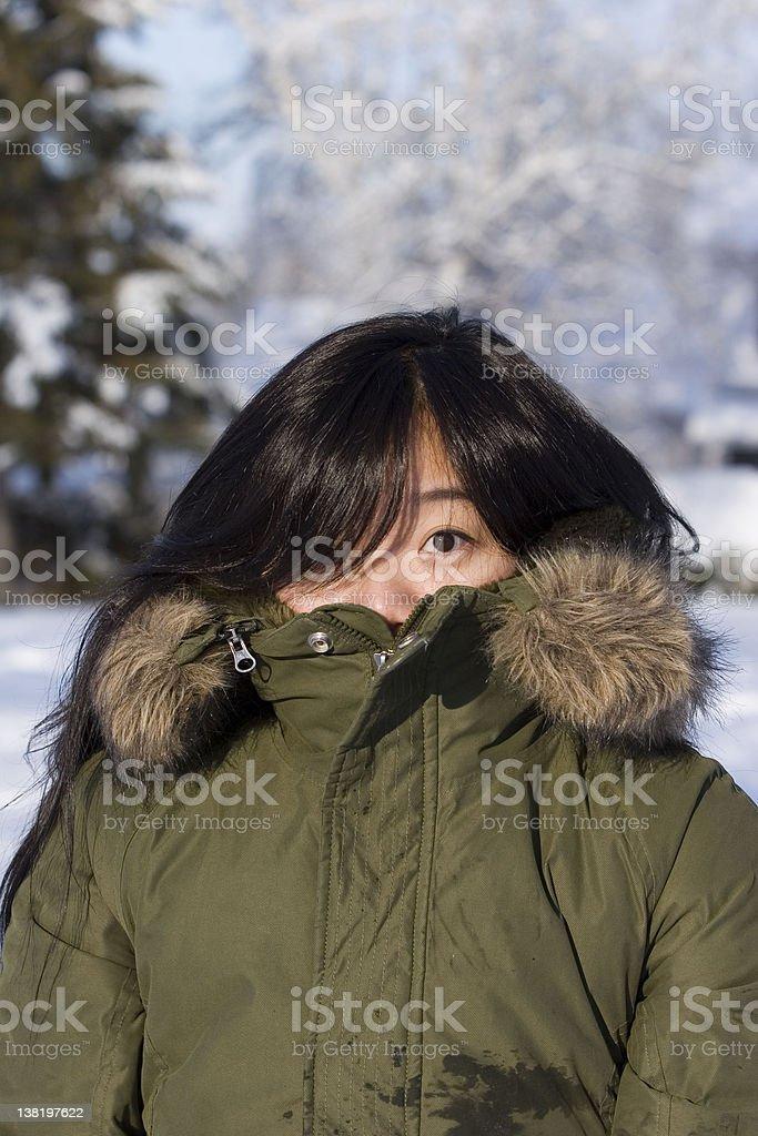 Eskimo girl stock photo
