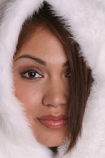 Eskimo Girl stock photo