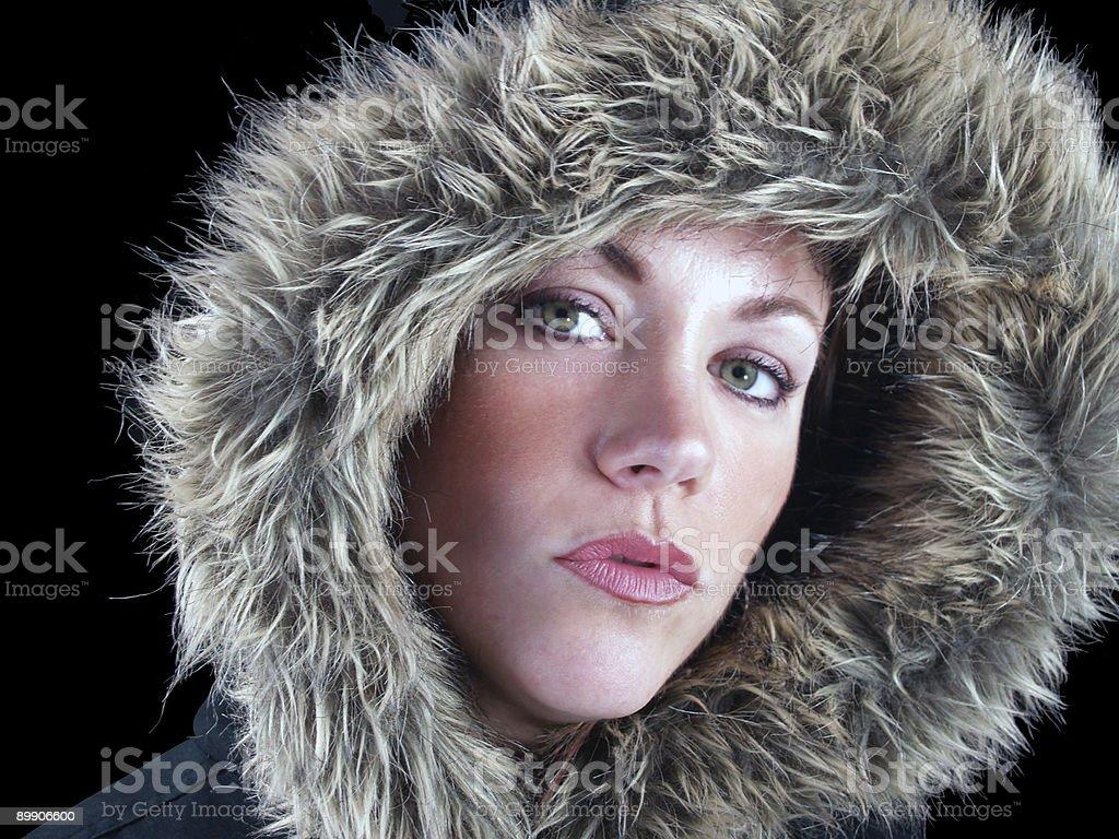 Eskimo girl royalty-free stock photo