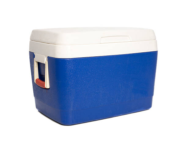 Esky - Cooler Box An Esky isolated on white. cooler container stock pictures, royalty-free photos & images