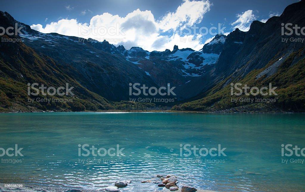esmerald laguna en ushuaia argentina - foto de stock