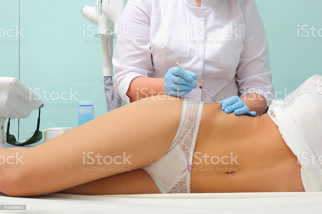 Мesotherapy for cellulite stock photo