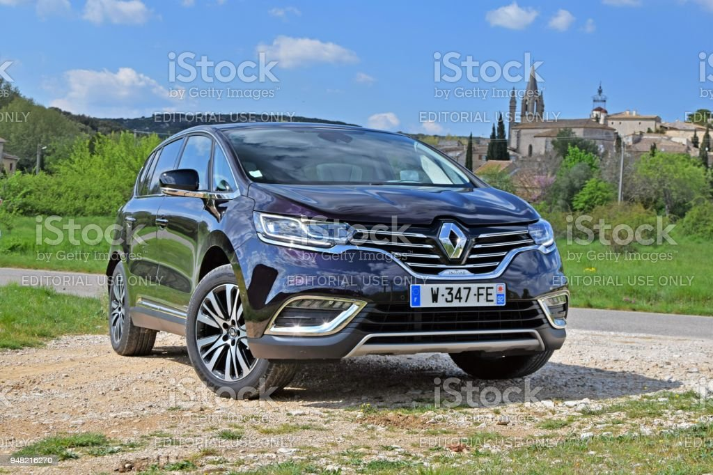 Espace - minivan with SUV/crossover features from Renault stock photo