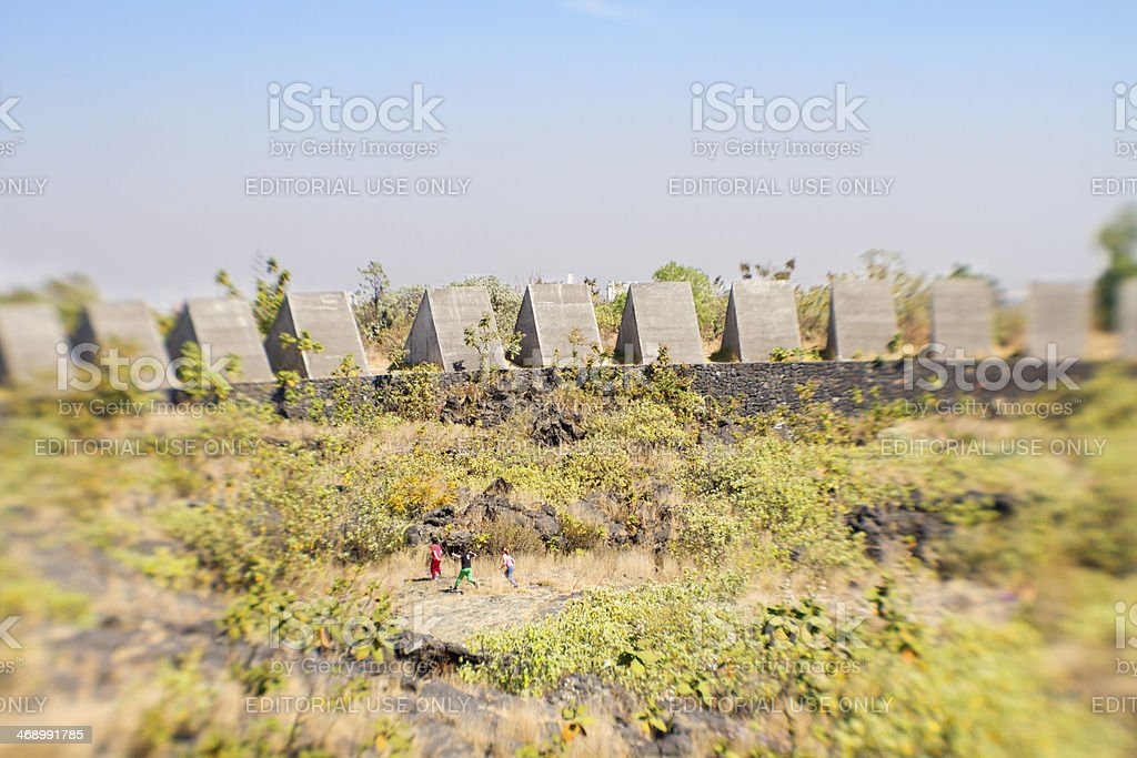 Espacio escultorico UNAM stock photo
