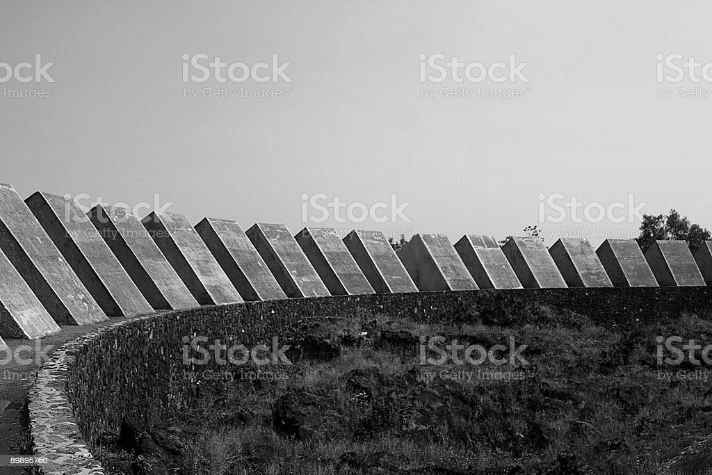 Espacio escultorico UNAM foto de stock libre de derechos
