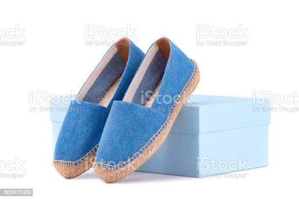 Espadrilles on the shoe box blue espadrilles on a white background picture id923422400?b=1&k=6&m=923422400&s=612x612&h=7lndxhhbjvkso9pxyku dd 8t96rz9oy3t6qltp dve=
