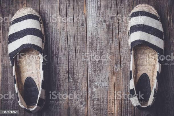 Espadrilles on wooden background picture id687186872?b=1&k=6&m=687186872&s=612x612&h=0qwhs09sheaqtzyqzsj5ta4ymy lfwb61da5xwksbba=