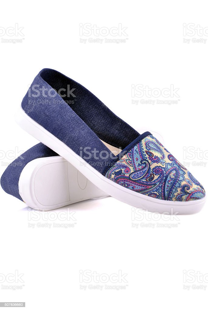 Espadrilles shoes isolated stock photo